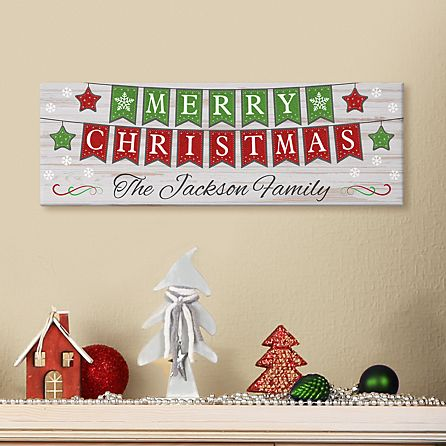 merry christmas banner canvas personal creations merry christmas banner canvas