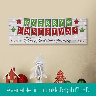 Merry Christmas Banner Canvas