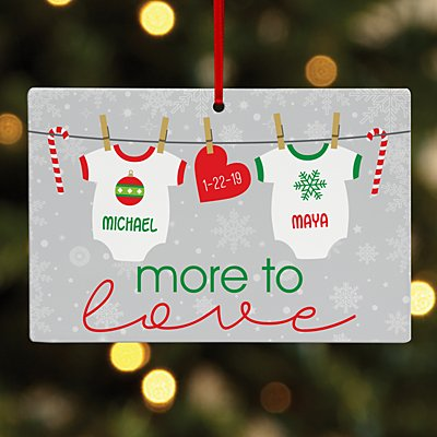 More to Love Baby Rectangle Ornament