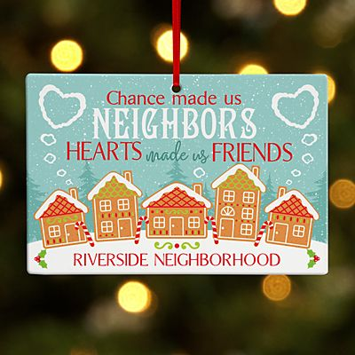 Neighborhood Friends Rectangle Ornament