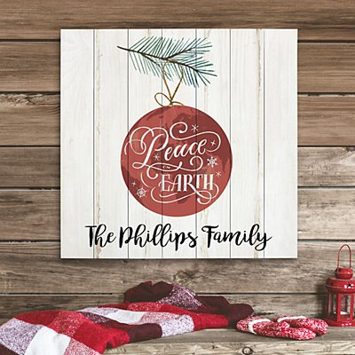 Peace on Earth Oversized Wood Pallet Wall Art