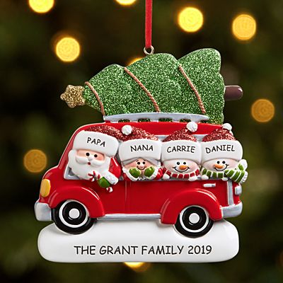 Santa Caravan Family Ornament