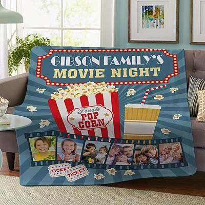 Snuggle Up Movie Time Photo Plush Blanket