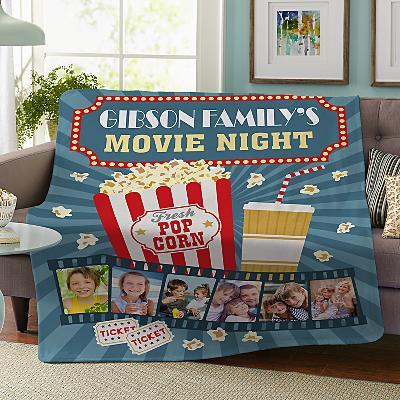 Snuggle Up Movie Time Photo Plush Blanket