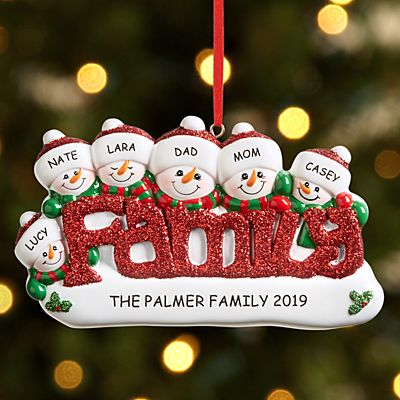 Sparkling Snowman Family Ornament