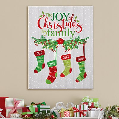 Stockings Were Hung By The Chimney Canvas