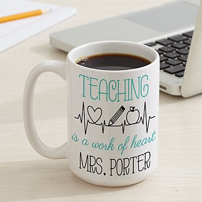 Teaching Is A Work Of Heart  15oz Mug
