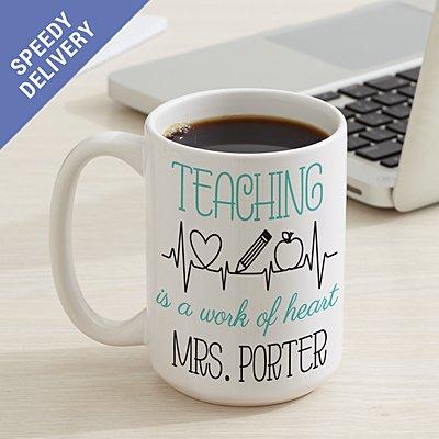 Teaching Is A Work Of Heart  Mug