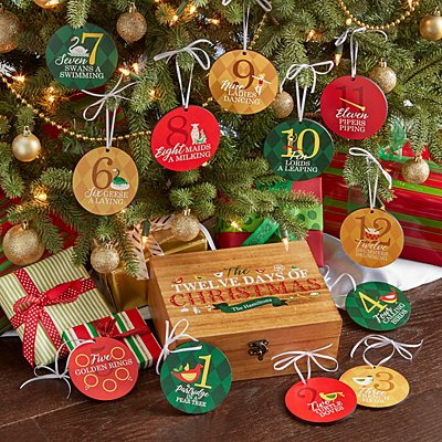 Twelve Days of Christmas Ornament Gift Set