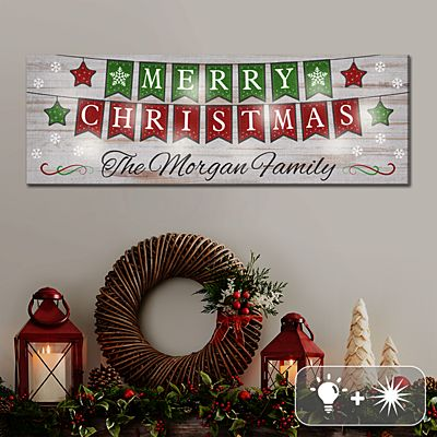 TwinkleBright® LED Merry Christmas Banner Canvas