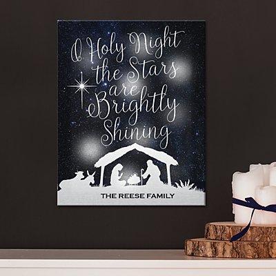 TwinkleBright® LED O' Holy Night Canvas