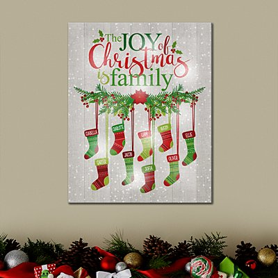 TwinkleBright® LED Stockings Were Hung By The Chimney Canvas