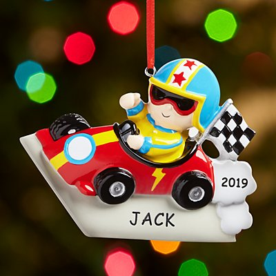 Vroom Vroom Race Car Driver Bauble