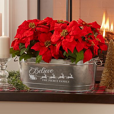 We Believe Holiday Planter Tub