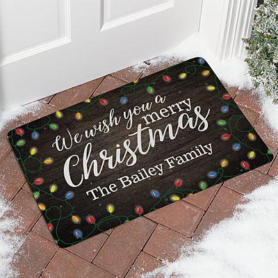 We Wish You a Merry Christmas Doormat