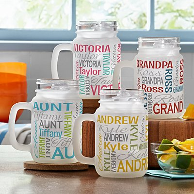You Name It! Frosted Mason Jar