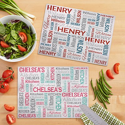You Name It! Signature Glass Chopping Board