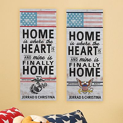 Home Is Where The Heart Is Military Plaque