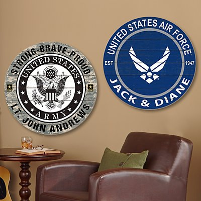 Military Pride Wood Plaque