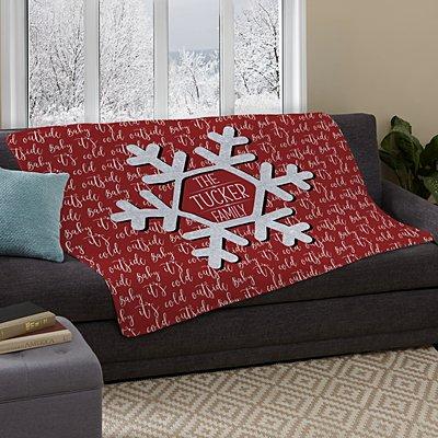 Snowflake Frost Plush Blanket