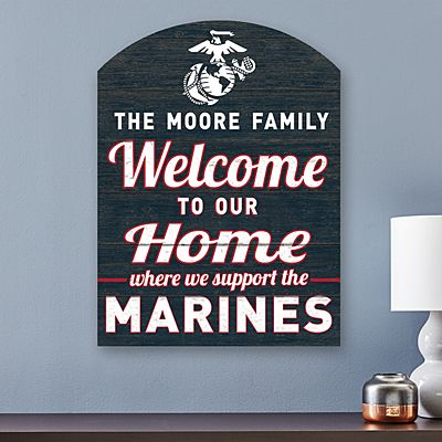 Welcome Home Military Wood Sign