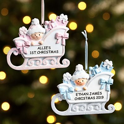 Baby Sleigh Ornament