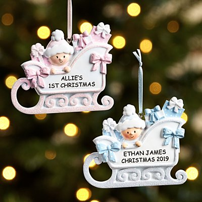 Baby Sleigh Ornament