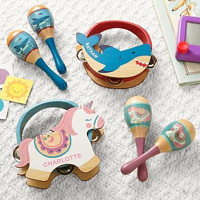 Stephen Joseph® Wooden Musical Tambourine Set