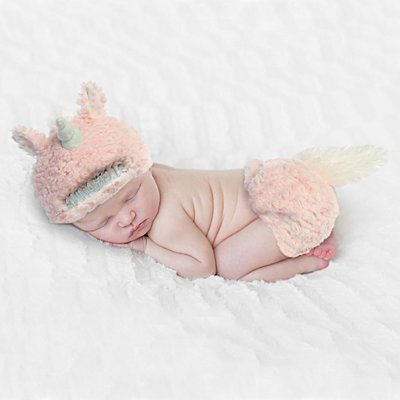 Baby Unicorn Diaper Cover Set