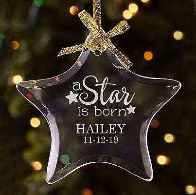 A Star is Born Glass Bauble