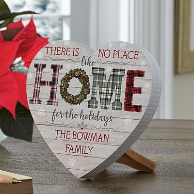 Home for the Holidays Mini Wood Heart