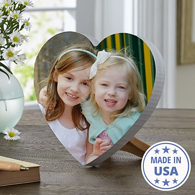 Picture Perfect Photo Mini Wood Heart