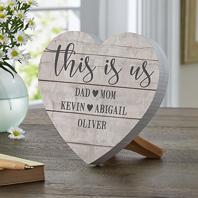 This is Us Mini Wood Heart