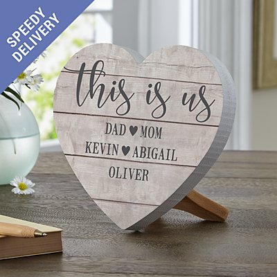 This is Us Mini Wooden Heart