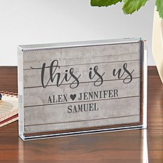 This is Us Glass Block