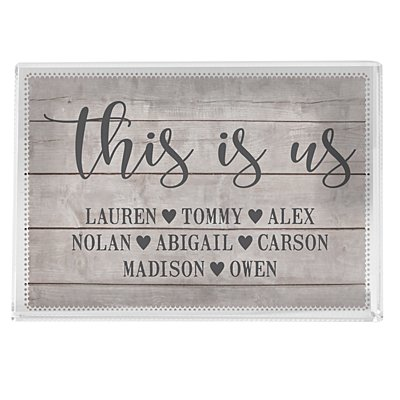 This is Us Glass Block - Small