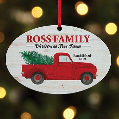 Christmas Tree Farm Oval Ornament