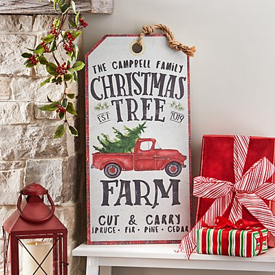 Christmas Tree Farm Oversized Hanging Wall Art