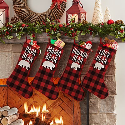 Cozy Bear Family Stocking