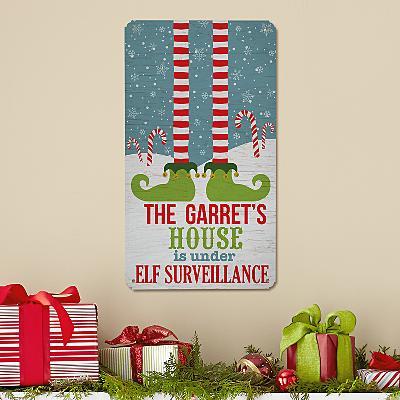 Elf Surveillance Metal Sign