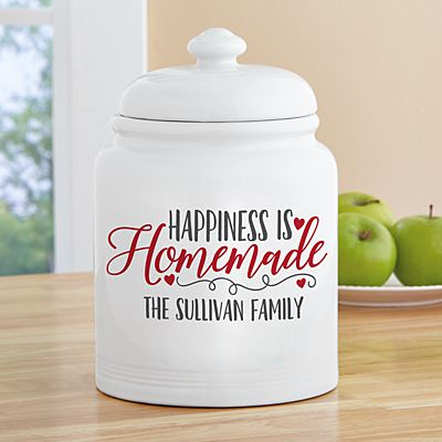 Happiness is Homemade Cookie Jar