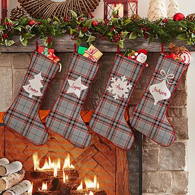 Christmas Plaid Stocking
