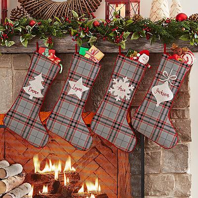 Christmas Plaid Stocking