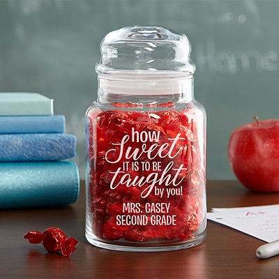 How Sweet It Is Glass Candy Jar
