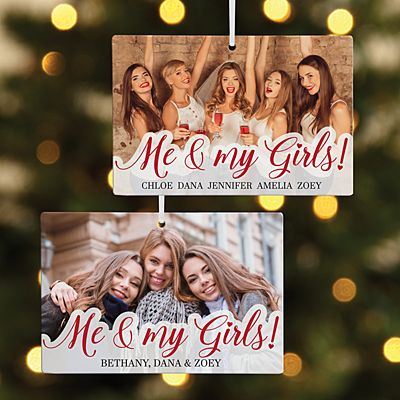 Me & My Girls Photo Rectangle Ornament