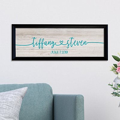 Always Together Wedding Canvas