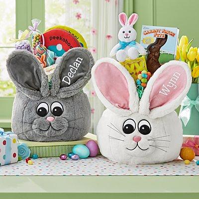 Extra Fuzzy Bunny Basket