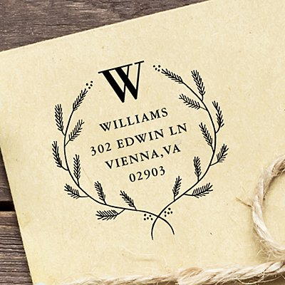 Laurel Wreath Self-Inking Stamp