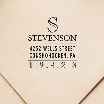 Modern Monogram Self-Inking Stamp