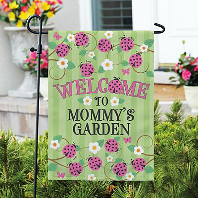 Lady Bug Garden Flag